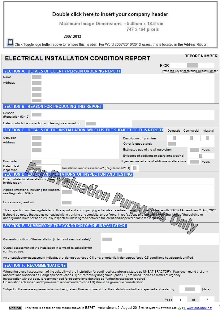 electrical installation condition report pdf