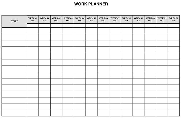 daily large jobs work planner daily small jobs work planner 13 weeks ...